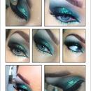 Green glitter eye