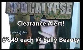 Clearance Alert! China Glaze Apocalypse Of Colour ($3.49 each @SallyBeauty)