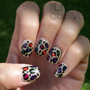 Fall Pixie Leopard Nails