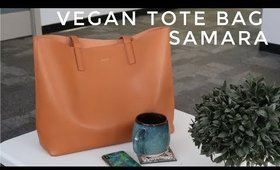 VEGAN TOTE BAG SAMARA + A DAY IN THE LIFE | Thefabzilla