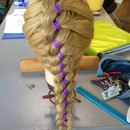 Four strand ribbon braid