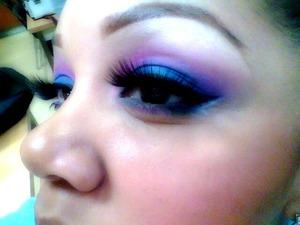 Blue and purple smokey eye