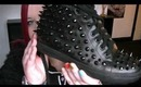 Jeffrey Campbell Alva Black Leather & Spike High Top Trainer Shoe Unboxing