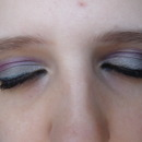 Silver and Purple Smokey eyes