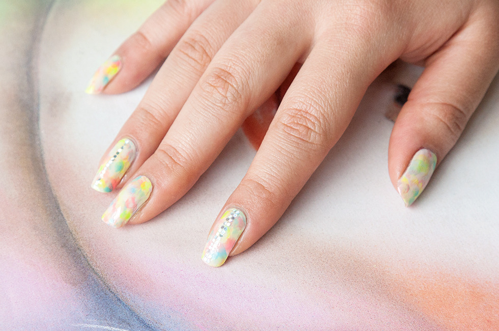 Tie-Dye and Glitter Nail Tutorial from Star Blogger Chelsea King ...