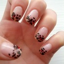 valentines cheetah nails