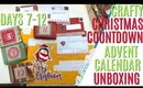 Crafty Christmas Countdown Calendar Unboxing DAYS 7-12, Crafty Countdown Swap Embellishment Swaps