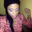 Pink and purple smokey eye..