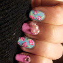 Lilly Pulitzer Inspired Mani.