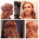 braided half up curls