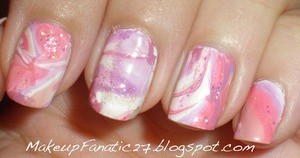 Marble Nail Art http://makeupfanatic27.blogspot.com/2011/09/fotd.html