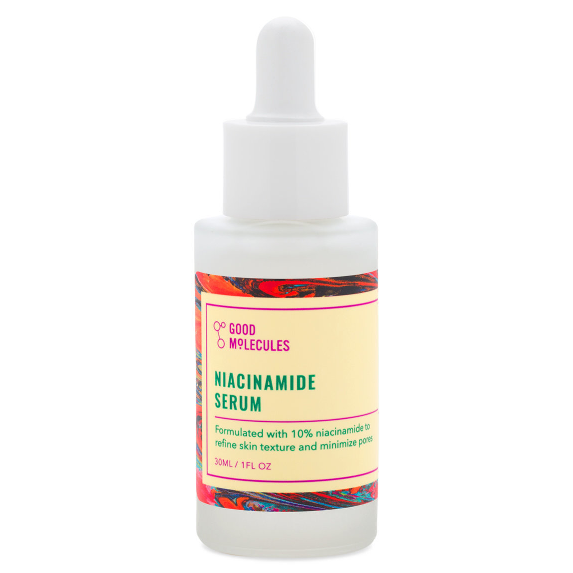 Good Molecules Niacinamide Serum product smear.