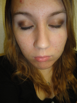 Today's makeup look--sparkly smokey brown.  6/29/11
