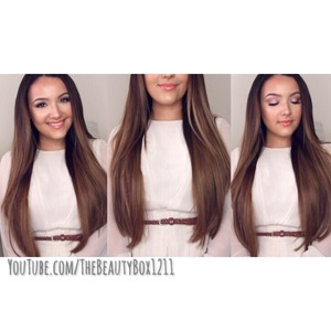 How to clip in hair extensions is on my YouTube channel :) TheBeautyBox1211