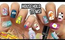 10 Nail Art Designs Using HOUSEHOLD ITEMS! | The Ultimate Guide #10