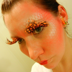 How I think the people of Panem's capital do makeup.