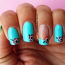 Peppermint manicure