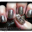 Fishnet Bling Mani