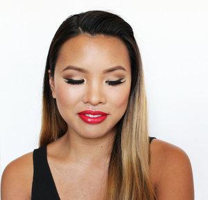 A Kim Kardashian inspired look using drugstore makeup.