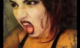 Halloween Tutorial = Bride of Frankenstein (inspired by MAC)