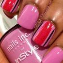 #busygirlnails Fall Nail Art Challenge - Pink