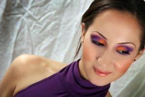 Wild Orange and Purple Eyes