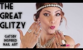 """""""The Great Glitzy"""" - Gatsby Inspired Holiday Nails"""