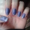 Purple glittery