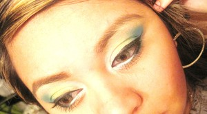 Lime green, Blue
