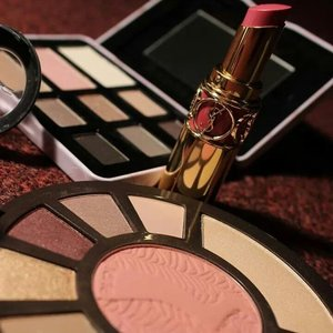 """Tarte """"After Dark"""" palette, YSL lipstick in Pink Caress and Too Faced """"Budior Eyes"""" palette   xoxo"""