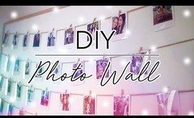 DIY Photo Wall - Recycling A Broken Mirror | Vlogmas Day 23 ♡