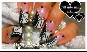 Black and White Abstract Nail Art  ♥