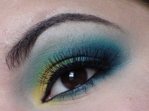 Inglot and Sugarpill blue and green