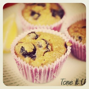 I made these Tone It Up Blueberry Zest Muffins ... So yummy! Xoxo #toneitup #tiu #food #healthy apparently #paleo #treat #muffin