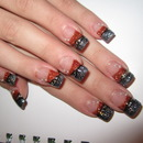 Red And Gray Glitter