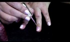 Uñas en rosa - Concentizacion del cancer de mama en octubre