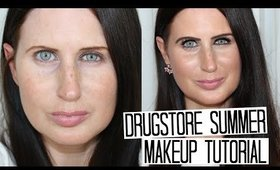 Drugstore Summer Makeup Tutorial - Simple, Wearable & No Foundation