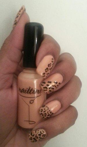 mango-rita nailtini polish w/ leopard print