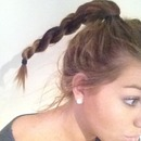 Rope hairstyle