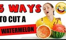 HOW TO CUT A WATERMELON – 5 WAYS + TRICK