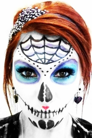 Day of the dead makeup done by me... On me!