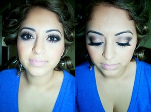 I did this smokey look on my friend about a month ago for a special occasion