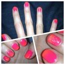 Gelish Neon Ombré Nails