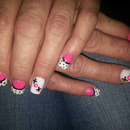 Mama's nails I did #beginners work #did my best