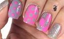 Contrast Heart Dot Nails by The Crafty Ninja