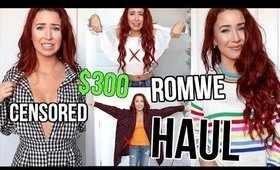 $300 ROMWE TRY ON CLOTHING HAUL! SCAM??