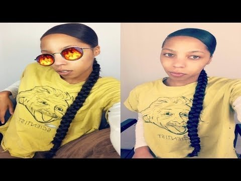 Easy Side Part Long Natural Braid Ponytail Kanekalon Hair J D Video Beautylish