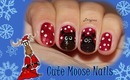 Cute Moose Nail Design (for short nails)  - Day2