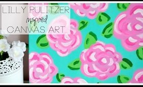 DIY Lilly Pulitzer Inspired Canvas Art ♡