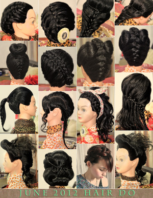 Some simple hair up-do ideas for July photo session...